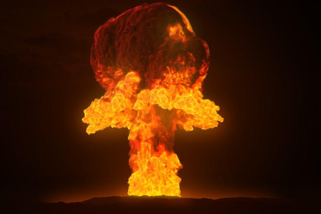 energía nuclear bomba