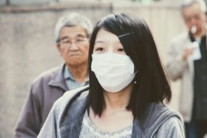 china máscara contaminación del aire