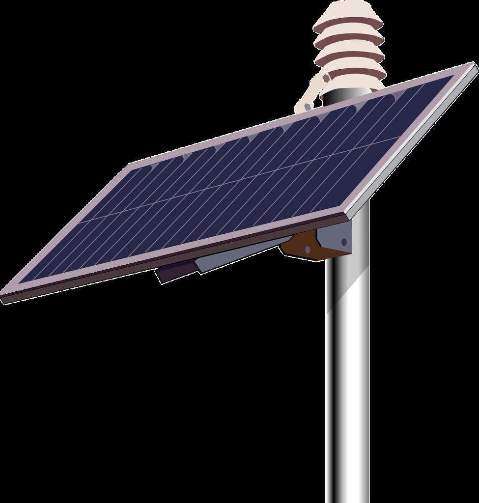 central fotovoltaica concepto
