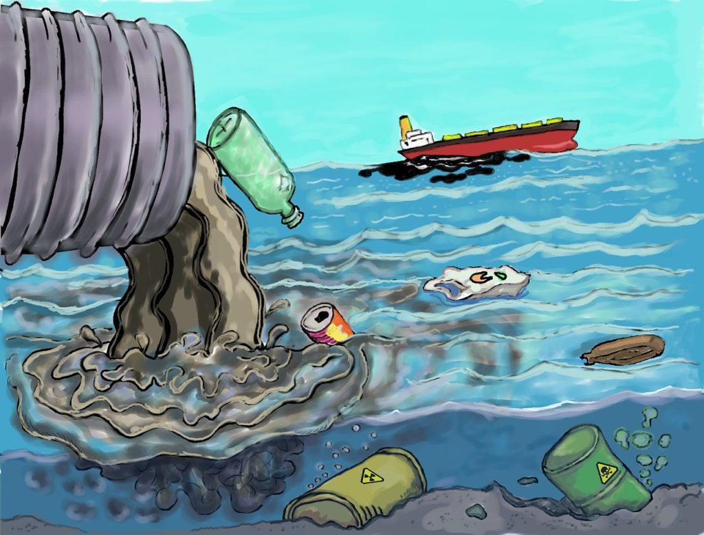 contaminación de ríos y lagos