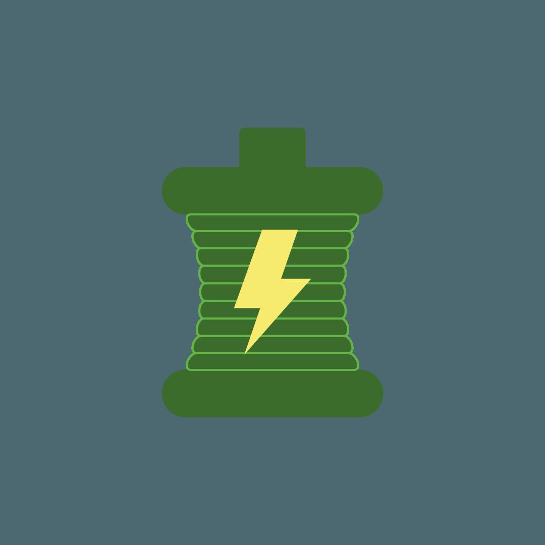 energía de bobina