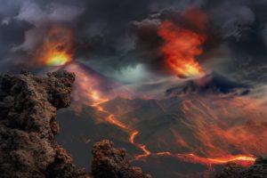 consecuencias de la erupción volcánica